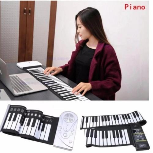 Đàn piano điện tử bàn phím cuộn dẻo 49 phím Kèm quà tặng