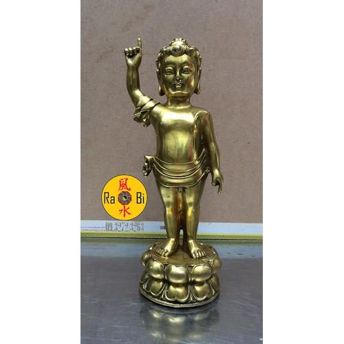 Đức Phật Đản Sanh chỉ thiên chỉ địa - Tượng Đồng Thờ Cúng