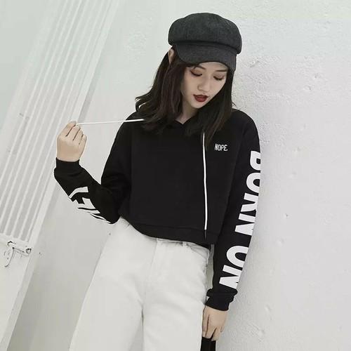 áo hoodie croptop in chữ - 4444483 , 12393245 , 15_12393245 , 89000 , ao-hoodie-croptop-in-chu-15_12393245 , sendo.vn , áo hoodie croptop in chữ