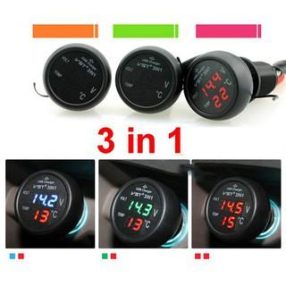 Sạc điện thoại, đo điện áp, nhiệt độ trên ô tô OLINTON 3in1 - oldt1 thumbnail