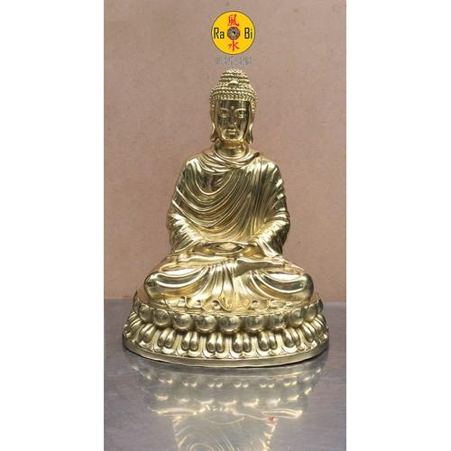 Bổn Sư Thích Ca Mâu Ni Phật vàng bóng - Tượng Đồng Thờ Cúng Cao Cấp