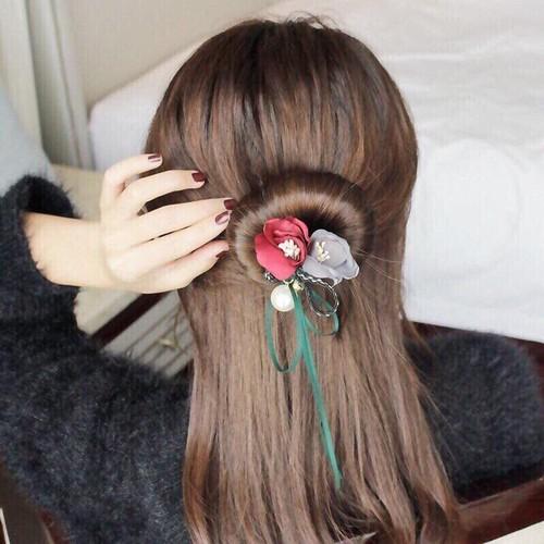 Thanh búi tóc kèm nơ hoa độc đáo mẫu mới nhất