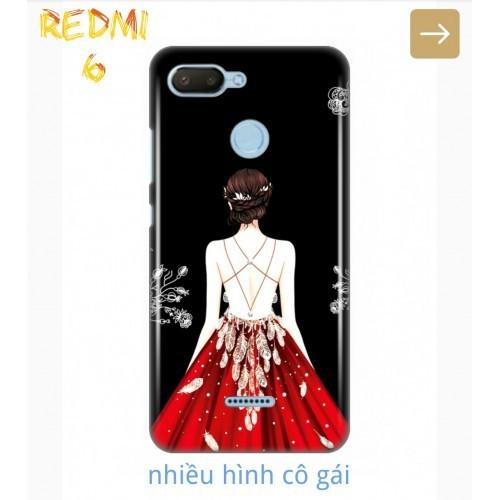 Ốp Lưng Xiaomi Redmi 6 Phía Sau Một Cô Gái