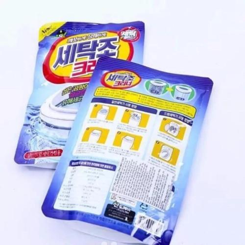 COMBO 3 gói Bột tẩy vệ sinh lồng máy giặt Hàn Quốc - gói 450g