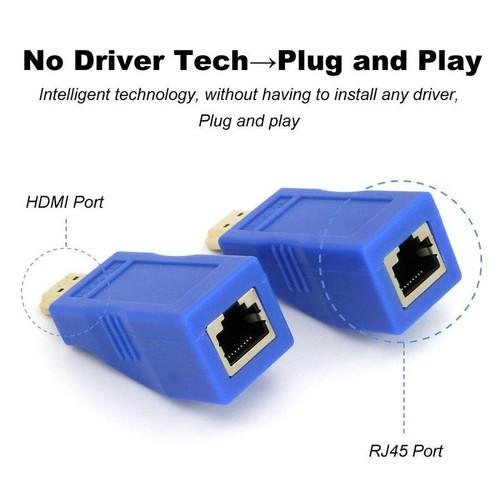 Bộ kéo dài tín hiệu HDMI 30m qua cáp mạng Cat5E Cat6 chuẩn RJ45 - 5898894 , 12410004 , 15_12410004 , 350000 , Bo-keo-dai-tin-hieu-HDMI-30m-qua-cap-mang-Cat5E-Cat6-chuan-RJ45-15_12410004 , sendo.vn , Bộ kéo dài tín hiệu HDMI 30m qua cáp mạng Cat5E Cat6 chuẩn RJ45