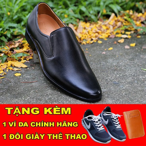 [TẶNG GIÀY THỂ THAO] Giày tây nam  không dây lịch lãm