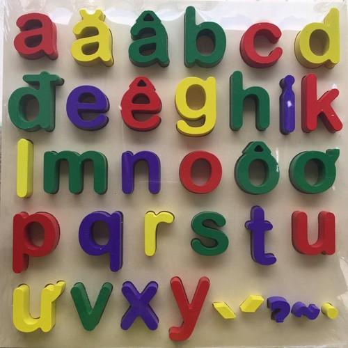 Bảng chữ cái tiếng việt thường dạng nổi