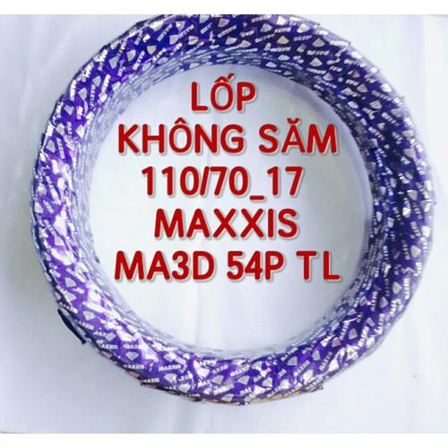 LỐP XE MÁY 110_70_17 KHÔNG SĂM MAXXIS