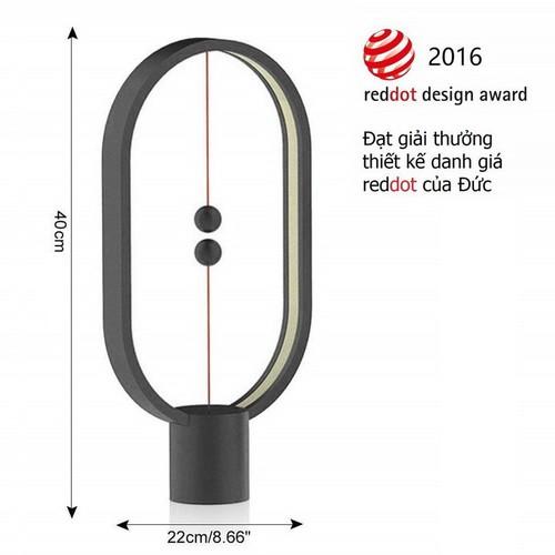 Đèn cân bằng HENG Balance Lamp bằng nhựa ABS màu đen [Trang trí nhà đón Tết]