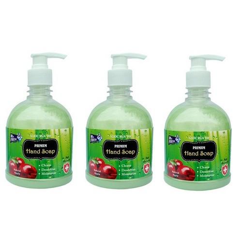 Bộ 3 bình nước rửa tay Mr Fresh Hàn Quốc 500ml Hương Táo Mỹ