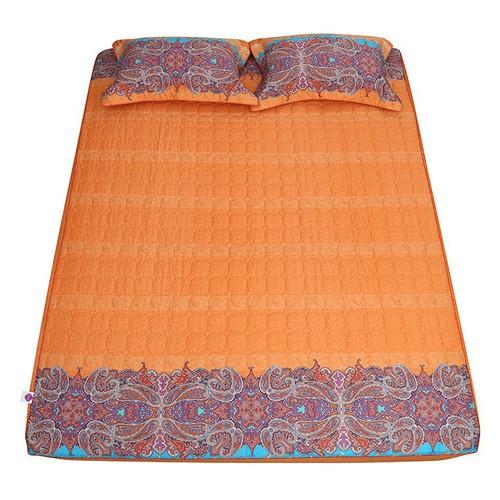 Bộ Ga chun trần gòn 160 x 200cm 3 món Cotton cao cấp Grand HQS132
