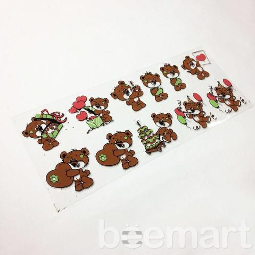 Khuôn socola 2D 11 hình gấu