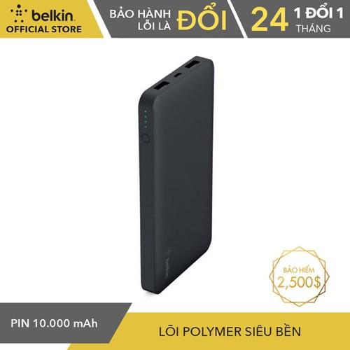 Pin Sạc Dự Phòng 10000mAh Belkin Pocket Power 2 Cổng F7U020btBLK