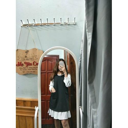 Váy Bầu Đen Phối Trắng Điệu Đà - 5894376 , 12404878 , 15_12404878 , 450000 , Vay-Bau-Den-Phoi-Trang-Dieu-Da-15_12404878 , sendo.vn , Váy Bầu Đen Phối Trắng Điệu Đà