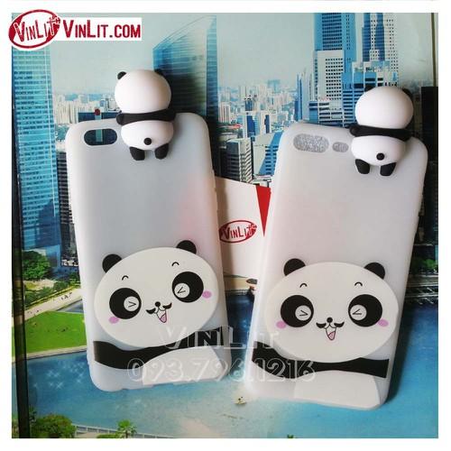 Ốp lưng Oppo F3 Lite A57 Neo 9s A39 silicon thú đầu nổi Panda