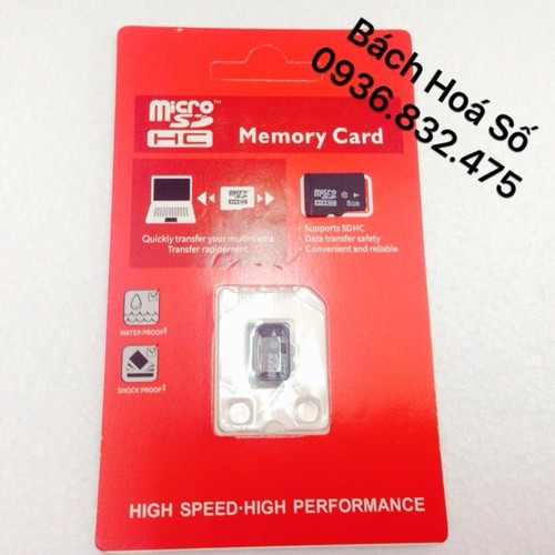 THẺ NHỚ Micro SD 8GB - BH 12 THÁNG