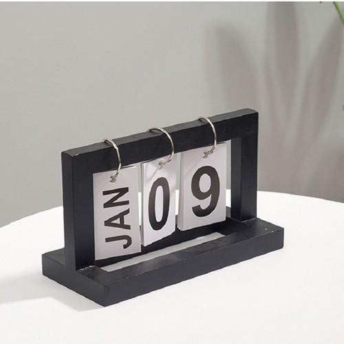 Lịch khung gỗ để bàn kiểu mới - Đen