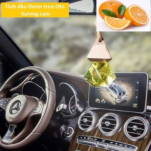 Tinh dầu thơm treo xe ô tô hương cam ngọt 10ml nguyên chất Ấn Độ