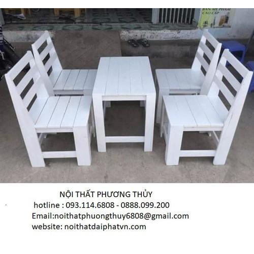 Bộ bàn ghế cafe gỗ cóc giá rẻ - PT11