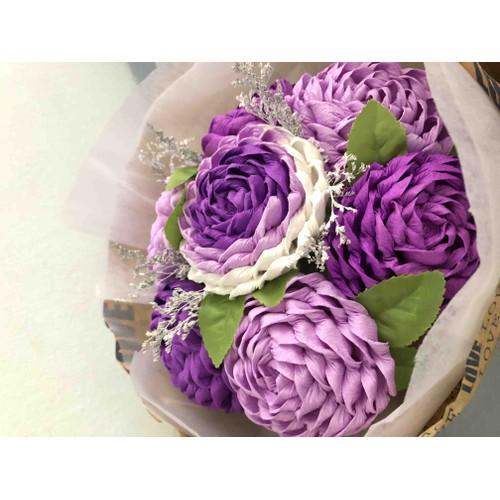 Bó 7 hoa hồng giấy nhún - 5901287 , 12412613 , 15_12412613 , 180000 , Bo-7-hoa-hong-giay-nhun-15_12412613 , sendo.vn , Bó 7 hoa hồng giấy nhún