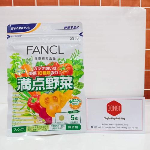 Viên uống rau củ,vitamin FANCL