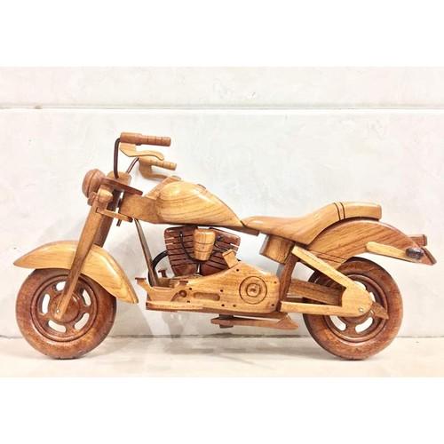 Mô hình Xe Mô tô Harley Davidson FXSTB Gỗ tự nhiên - Loại đẹp