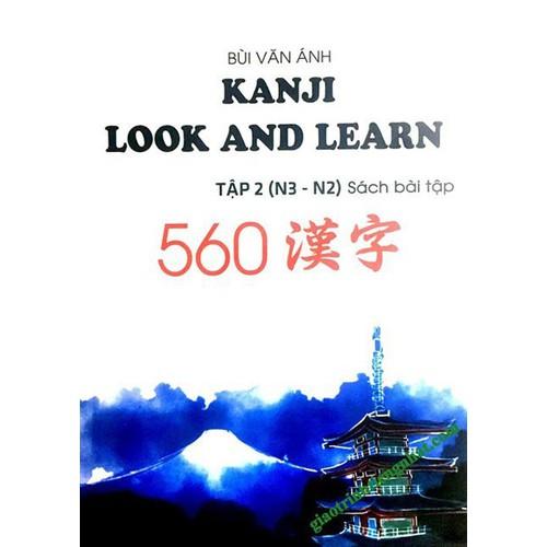 Kanji Look and Learn N3 và N2 – Tập 2 Sách Bài tập – Nhật Việt