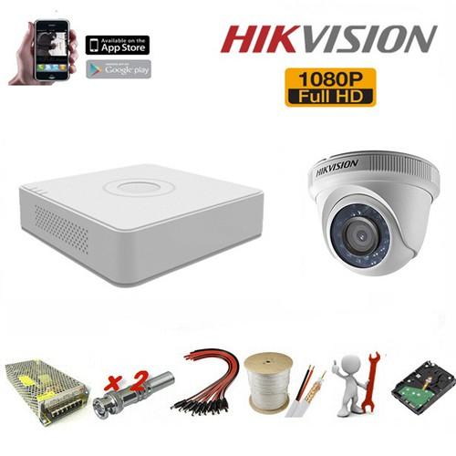 Trọn bộ 1 camera Hikvision 1.0 Megapixel - Lưu dữ liệu được 1 tháng