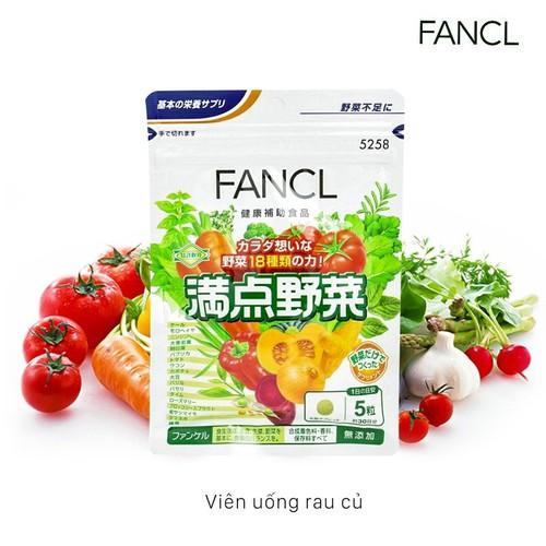 Viên uống bổ sung rau củ Fancl túi 30 ngày