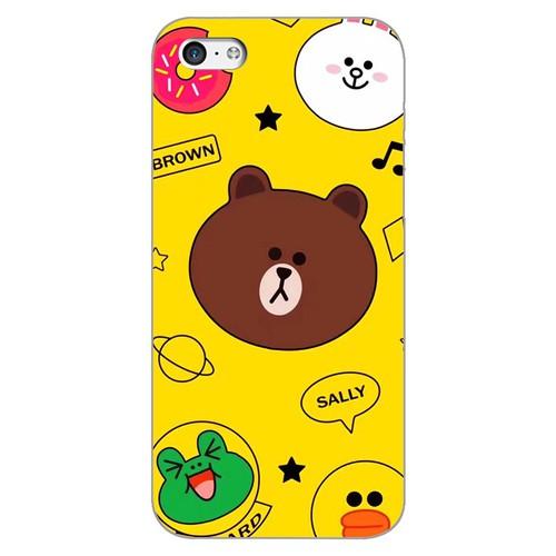 Ốp lưng điện thoại iphone 5c - brown 12