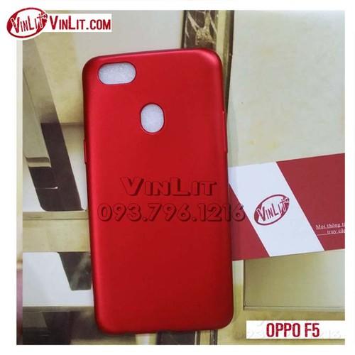 Ốp lưng Oppo F5 silicon đỏ bóng