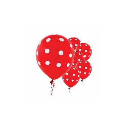 20 bóng đỏ chấm bi trang trí sinh nhật, tiệc cưới,...