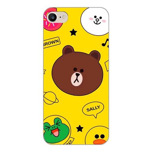 Ốp lưng điện thoại iphone 7 - brown 12