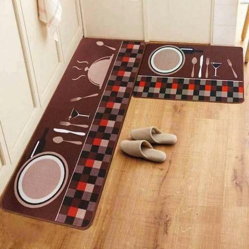 Bộ 2 thảm nhà bếp siêu dày dặn 40x60cm và 40x120cm