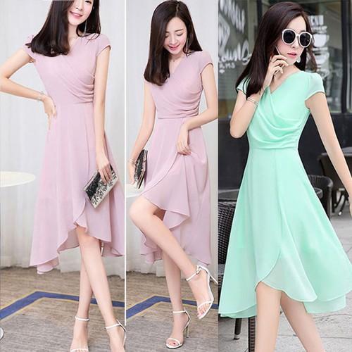 Đầm maxi nữ đơn giản 1D0710