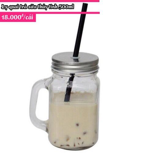 Ly quay trà sữa nắp có lỗ