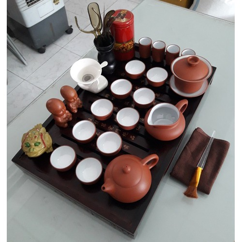 Bộ ấm chén pha trà tử sa cao cấp