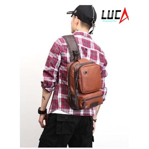 Túi đeo chéo da nam phong cách Hàn Quốc POLOVICUNA