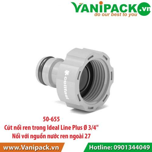 Cút Nối Nhanh Nguồn Nước Ren Trong 27mm Cellfast Ideal Line NB-50-655