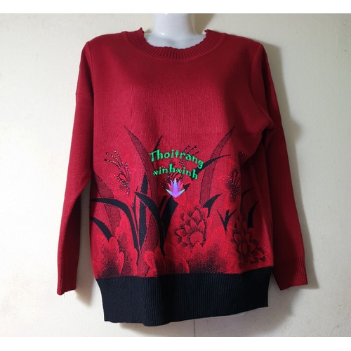 Áo len trung niên dài tay in họa tiết đẹp màu đỏ đô - 10888560 , 12432955 , 15_12432955 , 199000 , Ao-len-trung-nien-dai-tay-in-hoa-tiet-dep-mau-do-do-15_12432955 , sendo.vn , Áo len trung niên dài tay in họa tiết đẹp màu đỏ đô