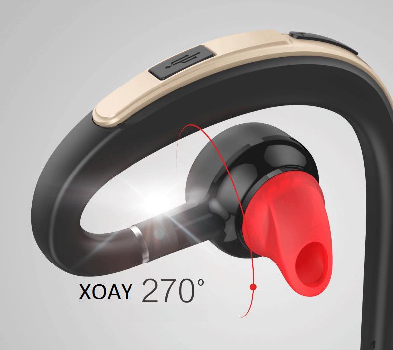 Tai nghe Bluetooth 360 nghe 2 tai PKCB S30 chống nước kèm mic 11