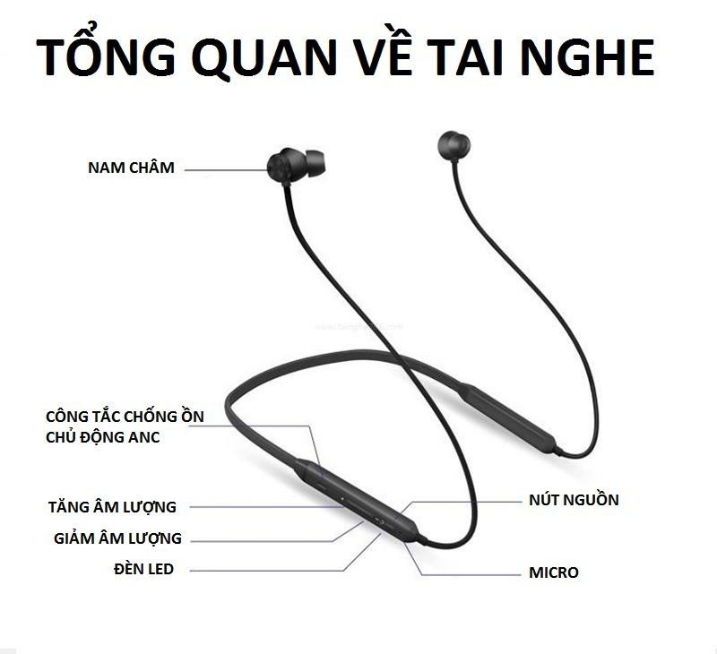 Tai nghe Bluetooth cao cấp ANC chống ồn chủ động PKCB-Bluedio 11