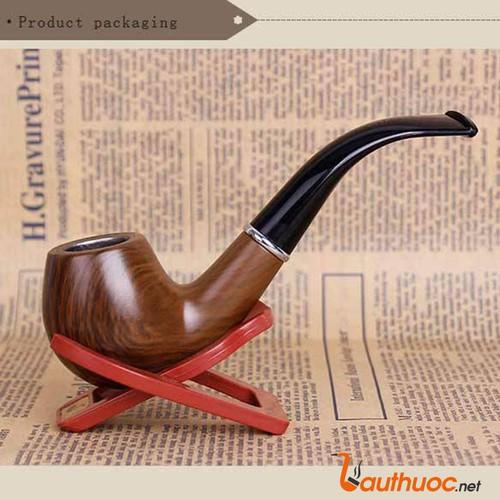 Tẩu hút thuốc giả gỗ cao cấp Cho Qúy Ông DH 5533 Vân gỗ nâu