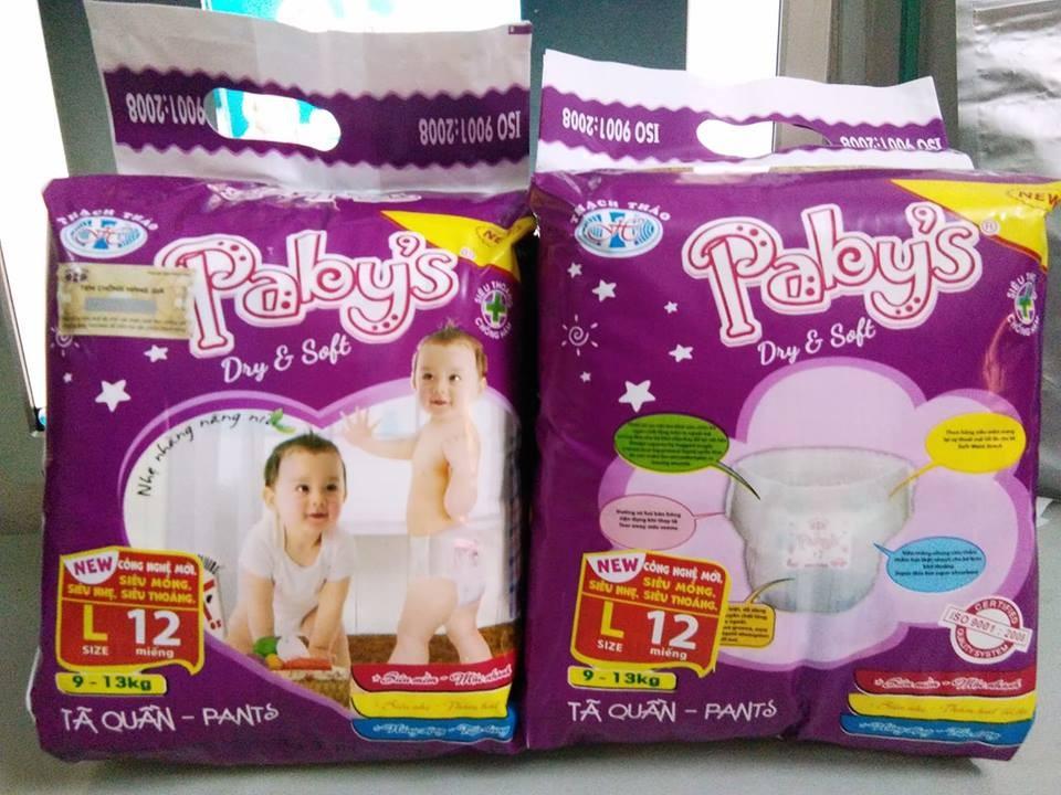 Hình ảnh Giảm giá 100 miếng bỉm quần cỡ L hãng Thạch Thảo Pabys cho bé 9-13kg