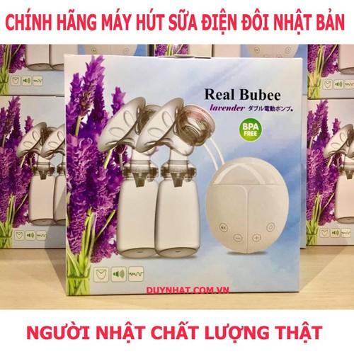 Máy hút sữa điện đôi và masage 8 cấp độ Real Bubee - Xuất Nhật Bản
