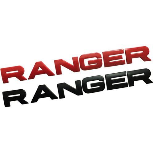 Tem logo chữ nổi RANGER dán trang trí đuôi xe Ford RANGER