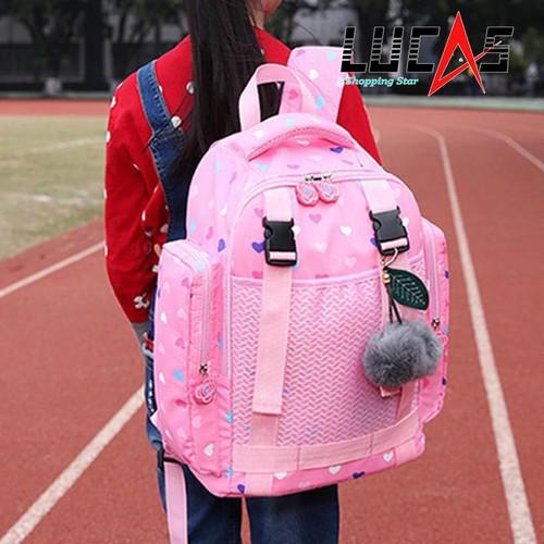 Balo chống gù lưng , siêu nhẹ cho học sinh cấp 2 K-PINK