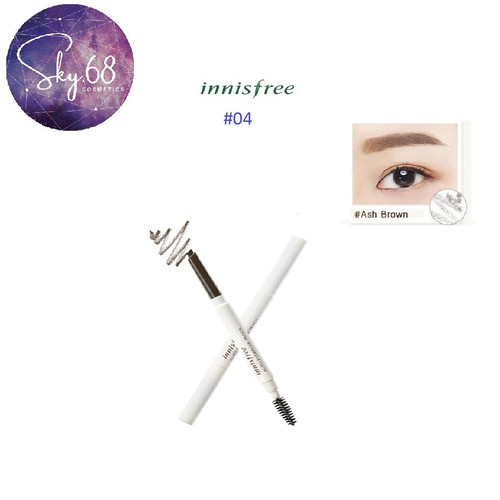 Chì Kẻ Mày 2 đầu Innisfree Eco Eyebrow Pencil #04 ASH BROWN - 5932614 , 12446781 , 15_12446781 , 99000 , Chi-Ke-May-2-dau-Innisfree-Eco-Eyebrow-Pencil-04-ASH-BROWN-15_12446781 , sendo.vn , Chì Kẻ Mày 2 đầu Innisfree Eco Eyebrow Pencil #04 ASH BROWN