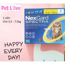 1 viên NexGard Spectra trị giun, ghẻ, viêm da, ve rận, chó 3,5 - 7,5kg