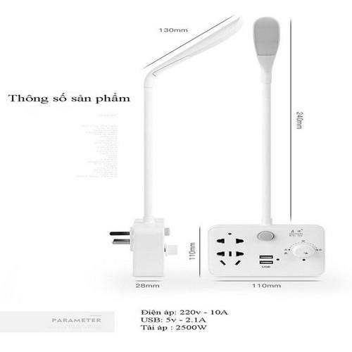 Ổ Cắm thông minh Kiêm đèn và ổ cắm điện thoại Kèm quà tặng
